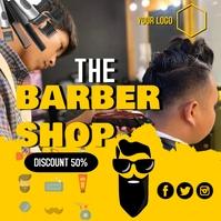 The BarberShop Publicación de Instagram template