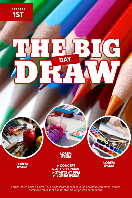 the big draw day flyer design template