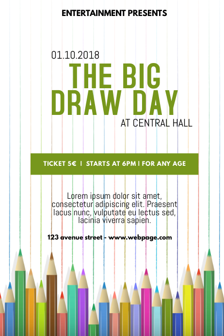 the big draw flyer