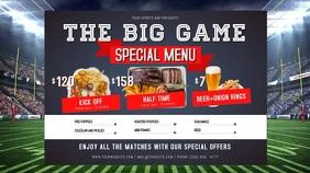The Big Game Special Menu Digital Display Video