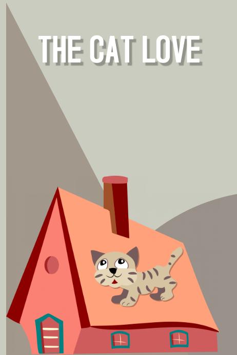 The Cat love a book cover design