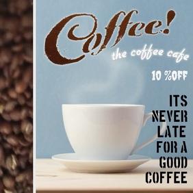 The Coffee shop/ Cafe Capa de álbum template