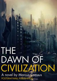 the dawn of civilization book cover A4 template