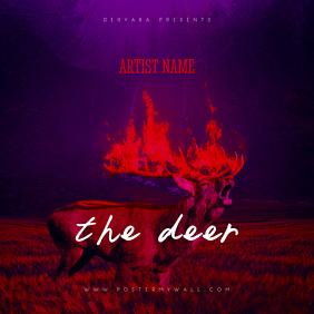 The Deer CD Cover Art Template