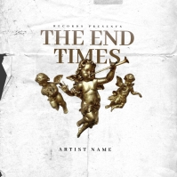 The End time Angels Mixtape Cover Art Template