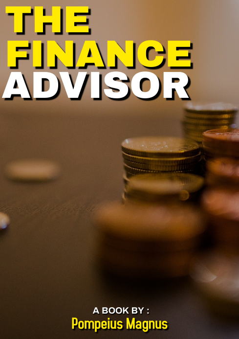 THE FINANCE ADVISOR book cover A4 template
