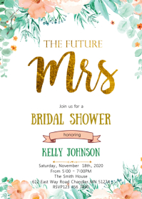 The Future Mrs bridal shower invitation