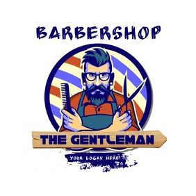 THE GENTLEMAN BARERSHOP LOGO HAIR SALON LOGO