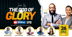 THE GLORY OF GOD FLYER Facebook Gedeelde Prent template