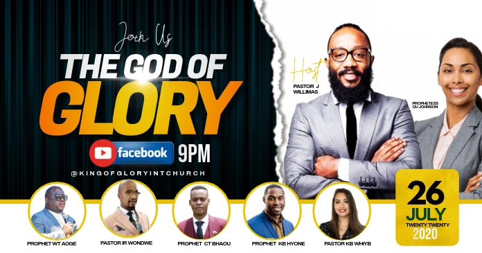 THE GLORY OF GOD FLYER Imagen Compartida en Facebook template