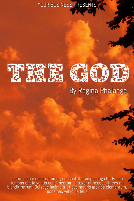 The god Sky Book cover movie film template