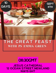 The Great Feast Poster Template