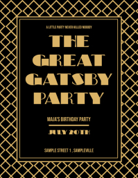 The Great Gatsby Birthday Party Flyer