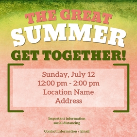The Great Summer Get Together Instagram Plasing template
