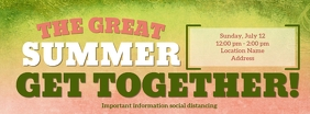 The Great Summer Get Together รูปภาพหน้าปก Facebook template