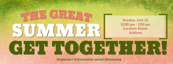 The Great Summer Get Together Foto Sampul Facebook template