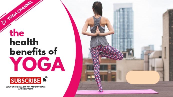 The health benefits of yoga YouTube Thumbnail template