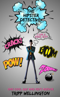 The Hipster Detective Cartoon Kindle/Book Covers template