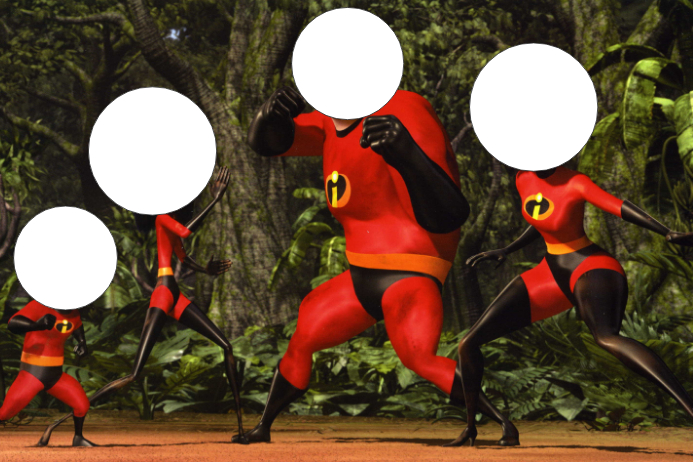 The Incredibles Party Prop Frame Template | PosterMyWall