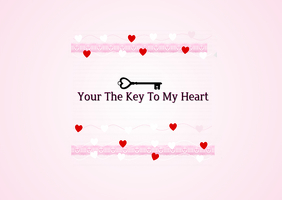 The Key To My Heart Valentine Postcard