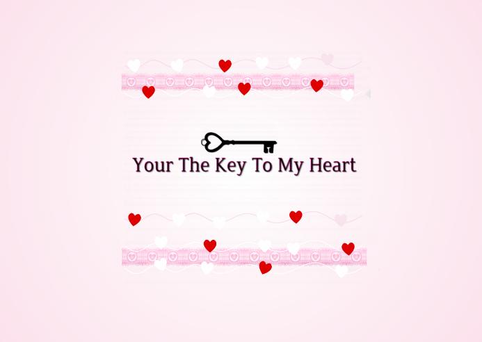 The Key To My Heart Valentine Postcard