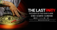 THE LAST PARTY DJ facebook shared image template