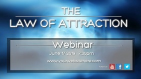the law of attraction Facebook 封面视频 (16:9) template
