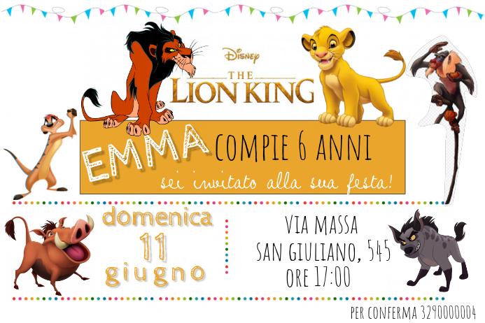 Plantilla De El Invitación De Cumpleaños Del Rey León