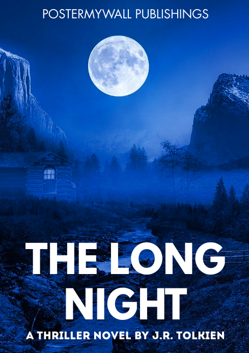the long night thriller horror book cover A4 template