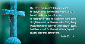 The Lord Is They Comfort: Bible Scripture Psalm 23:1-4