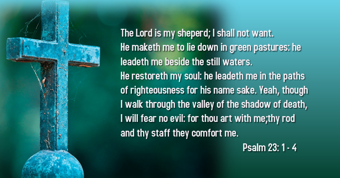 The Lord Is They Comfort: Bible Scripture Psalm 23:1-4 Template | PosterMyWall