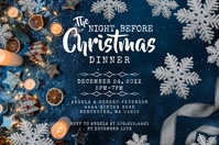 The Night Before Christmas Dinner Invite Label template