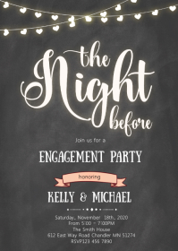 The night before theme invitation
