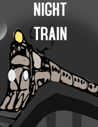 The night train Pamflet (Letter AS) template