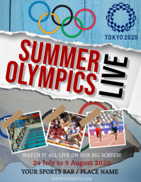 The Olympics Live Screening Flyer Template