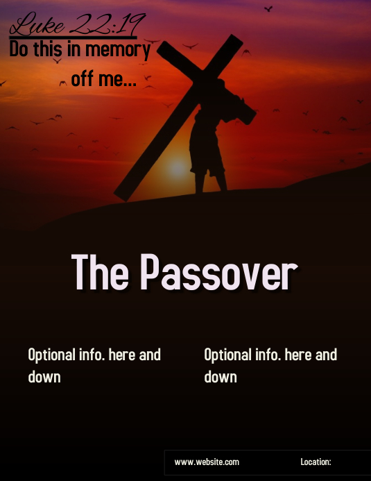 The Passover ad\flyer\poster