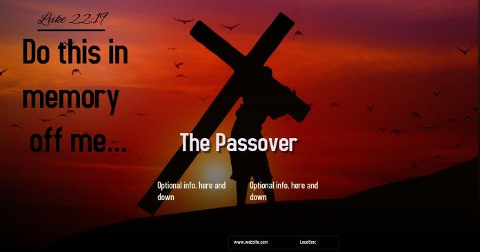 The Passover ad FACEBOOK SOCIAL MEDIA BANNER