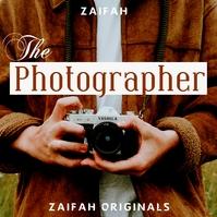 The photographer album cover design template