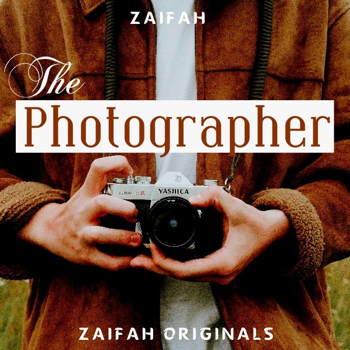 The photographer album cover design template 专辑封面