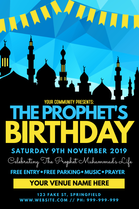 The Prophet's Birthday Poster