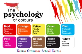 The psychology of Colors 海报 template