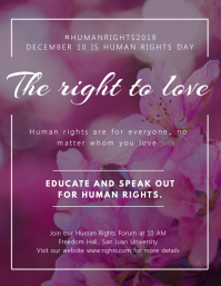The right to love Flyer