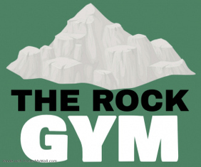 THE ROCK GYM SIGN BOARD TEMPLATE Medium Rectangle