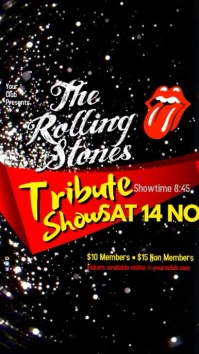 The Rolling Stone Tribute Show Digitalt display (9:16) template