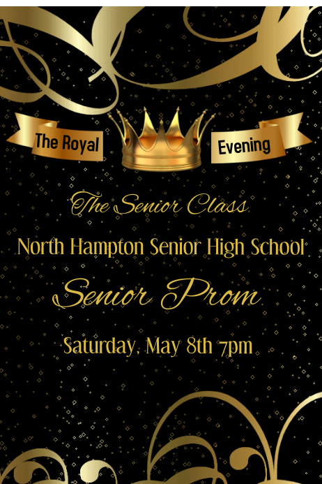 The royal Evening school Prom Template | PosterMyWall
