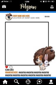 The Secret Life of Pets Party Prop Frame