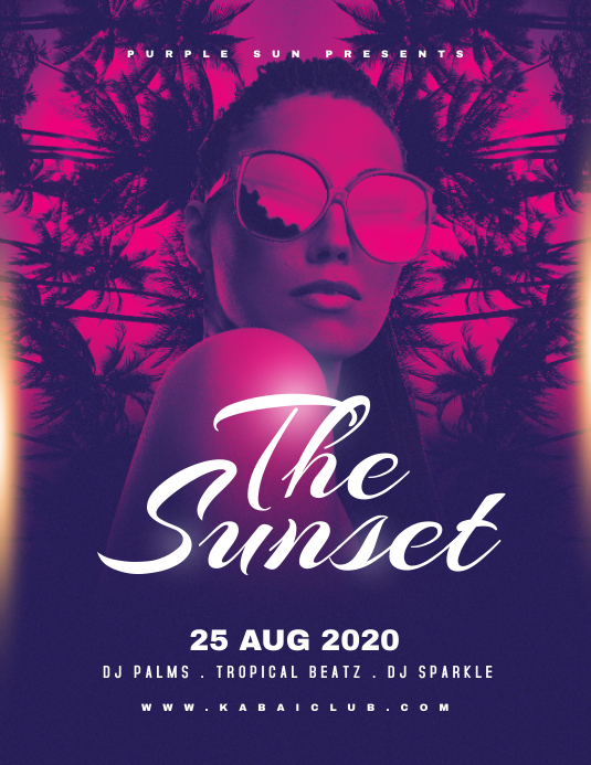 THE SUNSET Flyer Template