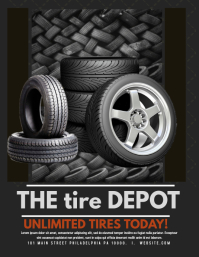 THE TIRE DEPOT 2 Pamflet (Letter AS) template