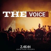 The voice album cover design template
