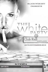 customizable design templates for white party postermywall